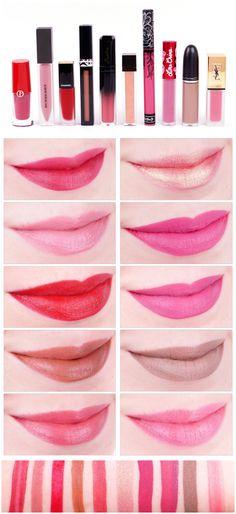 Von Armani bis YSL - 10 Liquid Lipsticks im Vergleich (Inkl. Ysl, Lime Crime, Makeup Palette, Lipsticks, Liquid Lipstick, Grapefruit, Make Up, Kawaii, Beauty