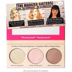 Palette Trio Illuminateur The Manizer Sisters THE BALM - CoinMakeup