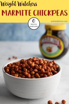 These Roasted Marmite Chickpeas are zero Smart Points on Weight Watchers Freestyle plan. If you are looking for a zero point snack then these are easy to make and taste incredible. A Weight Watchers snack recipe that you will make again and again. World Recipes, Ww Recipes, Dog Food Recipes, Snack Recipes, Savoury Recipes, Detox Recipes, Free Recipes, Recipies, Dinner Recipes