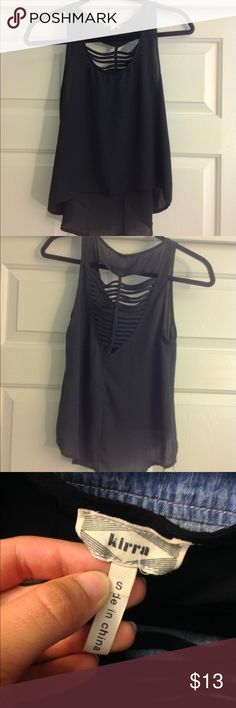 Open Back Blouse Super cute and looks very professional with a pencil skirt. In good condition. Tilly's Tops Blouses