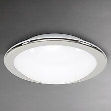 Buy Belid Lux LED Flush Bathroom Light, Chrome Online at johnlewis.com