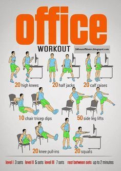 If your always stuck in the #office No problem Try this #OfficeWorkout! (make sure the chair doesn't have wheels on)