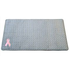 "Medium Entry Mat (30""X17"") Pink Ribbon: $65.00 #PintoWin @G G Bailey #PinittoWinit"
