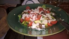 salad with cherry tomatoes and graviera