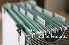 How to create an organized Mail station | A Bowl Full of Lemons