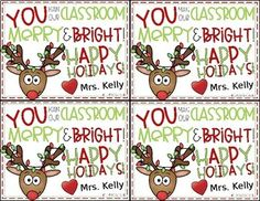 Christmas Student Gift Tag by The Mountain Teacher