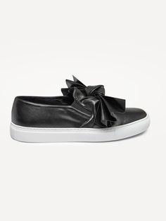 CEDRIC CHARLIER , Bow Slip On Sneakers  #sneakers #cedriccharlier #bow #black #leather #footwear #shopigo #shopigono17 #ss16 #conceptstore #onlinestore #onlineshopping #buyonline #onlineconceptstore #womenswear #womensfashion #womensstyle #streetstyle #streetfashion #streetwear #readytowear #fashion