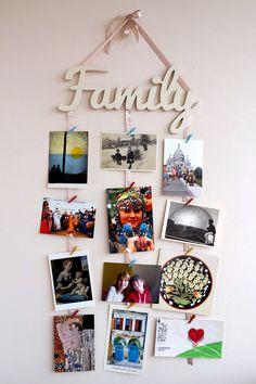 Photo Wall Decor, Family Wall Decor, Wall Decor Pictures, Hanging Pictures, Diy Wall Decor, Wall Photos, Heart Shaped Photo Collage, Framed Burlap, Creative Arts And Crafts
