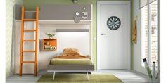 ROS Dormitorio Juvenil con Litera en L con Armarios Oldschool Kids