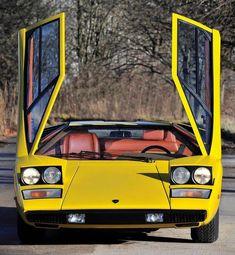 75 Lamborghini Countach via Classy Bro Classic European Cars, Best Classic Cars, Classic Italian, Lamborghini Aventador, Ferrari, Muscle Cars, Yellow Car, Classic Sports Cars, Car Photos