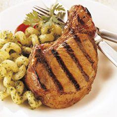 BBQ GRILLING #BBQ #Grilling Brined Rosemary Pork Chops