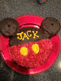 Mickey Mouse Birthday Cake! @Lisa Grannan