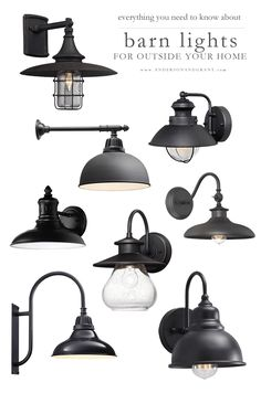 Everything you need to know about shopping for outside barn lights to hang on your modern farmhouse or industrial style home including what will work for your space and where to buy them. Industrial Light Fixtures, Industrial Lighting, Modern Lighting, Lighting Design, Industrial Design, Exterior Light Fixtures, Exterior Lighting, Exterior Barn Lights, Outside Light Fixtures