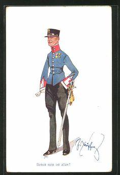 Austria, Austro Hungarian, Military Uniforms, Chocolate Box, Caricature, Battle, Empire, War, Fictional Characters