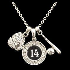 Custom Number Baseball Necklace