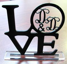 Wedding Cake Topper LOVE Monogram For Wedding or by Mclaserpro