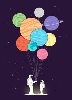 You are my universe (father & son) Art Print