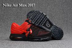 2018 Fashion Nike Air Max 2018 Leather kpu Mens shoes RED black Nike Air  Max 2017 9e8b787a7c5d