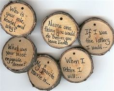 Little questions to put on a wedding table! Someone marry me so I can throw a nice party! :)
