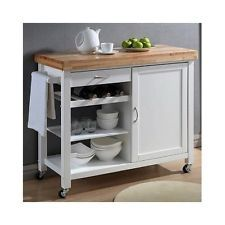Kitchen Cart Island Butcher Block Wine Rack Rolling Cabinets Cooking Storage Eco