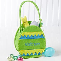 Easter Egg Mini Treat Bag - Green