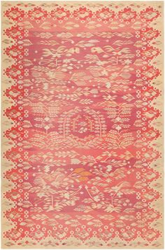 Antique Romanian Bessarabian Kilim 46906 Nazmiyal - By Nazmiyal Textile Prints, Textile Design, Textiles, Modern Tapestries, Interior Rugs, Interior Design, Study Design, Crochet Instructions, Repeating Patterns