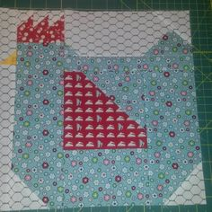 Last blue chick is for my big quilt, on to the milk can now! #farmgirlvintage #farmgirlfridays