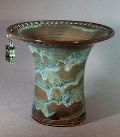 Ceramic Earring Holder - Brown/Green/Blue
