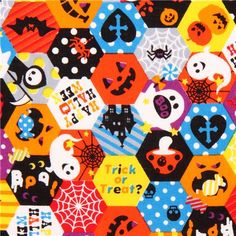 Cosmo Halloween fabric honeycomb Trick or Treat ghost #Halloween