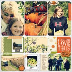 Project Life   Jennifer McCabe    Apple Picking    Samantha Walker  Digital Dies or Masks Bunting Borders  Harvest Moon Mega Kit    Splendid Fiins  4x6 eclectic foto features  3x4 love journaling cards  wishy washi - eclectic set 1      Becky Higgins  Clementine Edition Paper Pack  Project Life - Template Design B    Dani Mogstad  Monstrosity Complete Kit - background paper