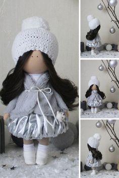 Winter doll READY doll Fabric doll Tilda doll Textile doll Handmade doll Silver doll Rag doll Baby doll Unique doll Art doll by Margarita