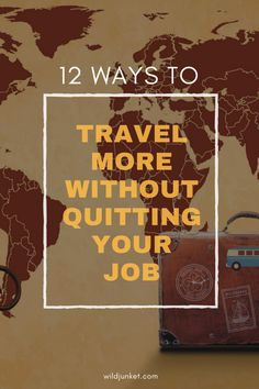 While the idea of quitting your job to travel sounds romantic, it may not for everyone. Here are 11 ways to travel more without quitting your job. Ways To Travel, Packing Tips For Travel, Travel Advise, Travel Hacks, Fly Travel, Work Travel, Travel Rewards, Venice Travel, Quitting Your Job