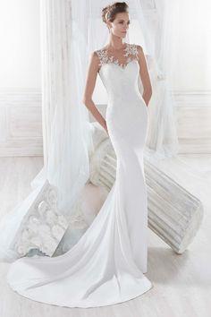 Vestido de Novia de Nicole - NIAB18048      Wedding Dress #bride #wedding #white #mermaid