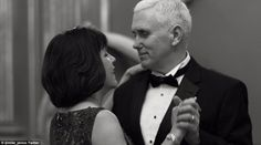 Mike Pence shared this picture of himself and his wife, Karen, taking a moment out during ...