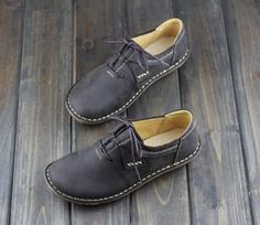Handmade Shoes for Women Flat Shoes Retro Leather Shoes Casual Shoes Vintage Style ShoesOxford Women Shoes by HerHis