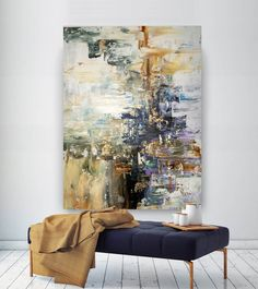 Large Abstract Painting Modern Abstract Painting Painting Home Decor Decor Art Xl Abstract Painting Acrylic Textured Art - Painting Large Abstract Wall Art, Large Artwork, Large Wall Art, Canvas Wall Art, Blue Abstract, Art Texture, Texture Painting, Oversized Canvas Art, Art Moderne
