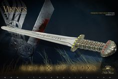 Sword of Kings Premier First Run Edition SH8005LE-P | Blade: 420J2 stainless steel, mirror polished with Viking runes.