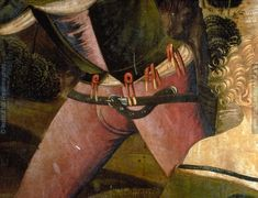 7 point hoes attachment and low rise of 15C hoes from the altarpiece at the Church of St. George