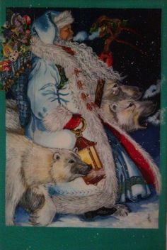 One of my favorite Christmas works.I used a Christmas card by Lynn Bywaters.