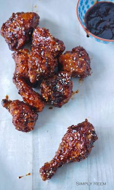 Korean Fried Chicken.... YUM! #Chicken #KoreanFood This recipe looks delicious!