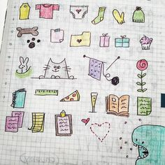 One of my favorite things about my bullet journal is being able to decorate it with little doodles, frames, lines, and various lettering. Most of the time when I doodle, it's to take a little mental break from my work. Bullet Journal Frames, Bullet Journal Hacks, Bullet Journals, Little Doodles, Cute Doodles, Doodle Drawings, Doodle Art, Doodle Ideas, Simple Line Drawings