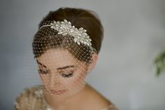Arabella crystal vintage wedding headband from Debbie Carlisle Wedding Headband, Bridal Hair Pins, Headband Veil, Wedding Dress, Wedding Veils, Bridal Headpieces, Wedding Jewelry, Vintage Wedding Hair, Rustic Wedding