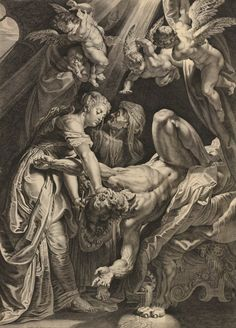 Cornelis Galle I (after Peter Paul Rubens), Judith Beheading Holofernes (c. 1616 - Etching / Engraving)