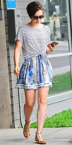 Lily Collins' print mixing is on point.