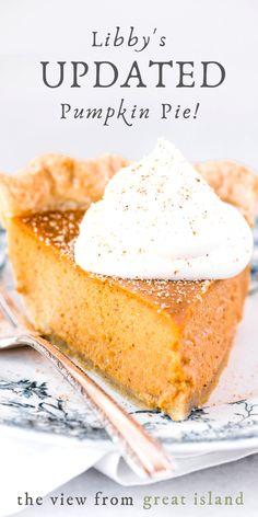 Libby's Pumpkin, Easy Pumpkin Pie, Pumpkin Dessert, Homemade Pumpkin Pie, Pumpkin Pie Cake, Perfect Pumpkin Pie, Homemade Pies, Vegan Pumpkin, Homemade Desserts