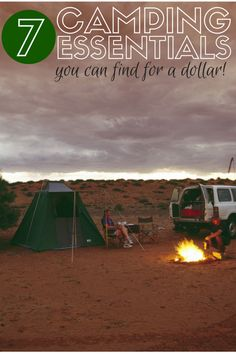 If you camp and are looking to stock up on a budget, stop by your local dollar store.  Take a look below at a few camping essentials you can find for a buck!