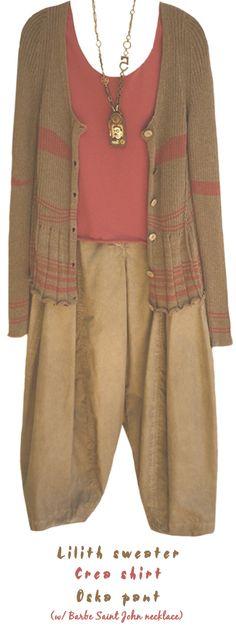 Lilith Sweater .. Crea shirt,, Oska pant w/Barbe Saint John necklace