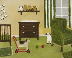 Gary Bunt | (52) The Nursery I'm not really allowed in the nursery But sometimes I creep in There's a dog in there all he does is stare So I'm keeping an eye on him