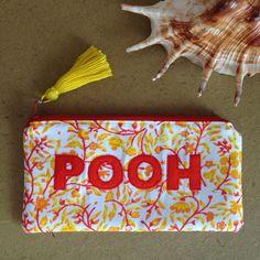 Custom appliqué pouch