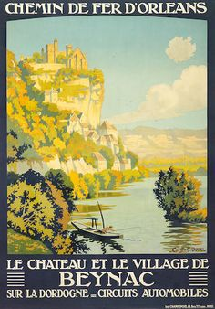 'Chemin de Fer D'Orleans', French railway travel poster after Constant Duval, circa 1921,